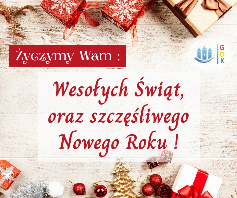 Grafika ze świątecznymi życzeniami